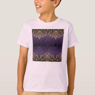 Camiseta roxo, ultravioleta, damasco, vintage, teste