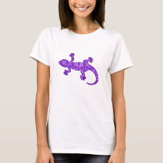 Camiseta Roxo violeta e amethyst do geco tribal do batik -