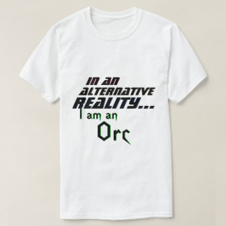 Camiseta RPG alternativo de Orc da realidade