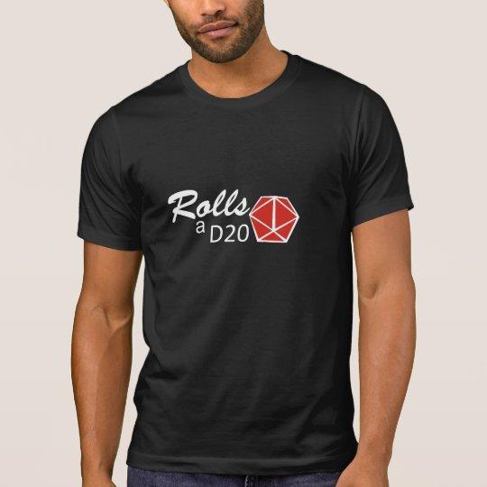 Camiseta RPG - Rolls a D20