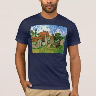 Camiseta Rua da vila em Auvers por Vincent van Gogh