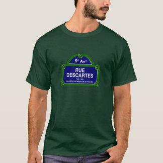 Camiseta Rua Descartes, sinal de rua de Paris