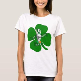 Camiseta Rua irlandesa Patricks do crânio