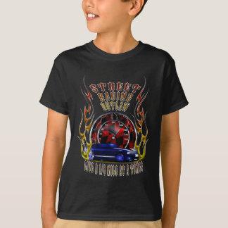 Camiseta Rua que compete o fora da lei que vive um 1/4 em