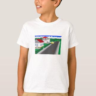 Camiseta Ruas e construção de casa