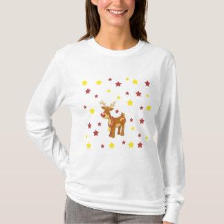 Camiseta Rudolph as estrelas cheiradas vermelhas do Natal