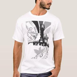Camiseta rufa a ilustração do violoncelo