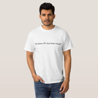 Camiseta Ruído da parada programada de Windows XP