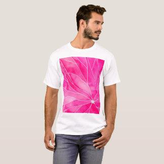 Camiseta Ruptura do Watercolour do rosa quente