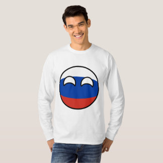 Camiseta Rússia Geeky de tensão engraçada Countryball