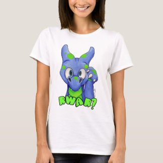 Camiseta RWAR? (Azul) dragão bonito do bebê que ruje