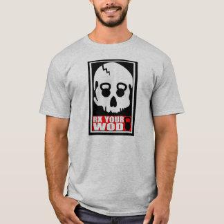 Camiseta RX seu WOD - t-shirt do crânio de Kettlebell