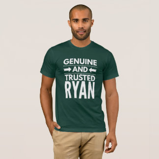 Camiseta Ryan genuíno e confiado