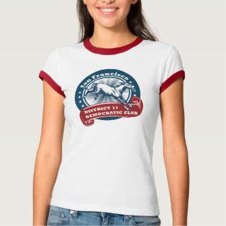 Camiseta S.F. Dist. O T Democrática de 11 mulheres do clube