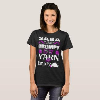 Camiseta Saba obtem mal-humorado quando seu fio é Tshirt
