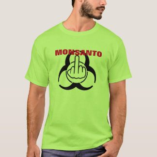 Camiseta Sacudir do perigo de Monsanto do t-shirt bio