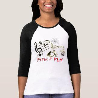 Camiseta Sacudir, falhanço & mosca
