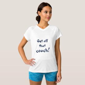 Camiseta Saia essas citações inspiradores do sofá