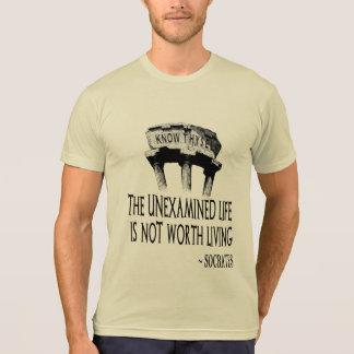 Camiseta Saiba o t-shirt do Poli-Algodão dos homens de