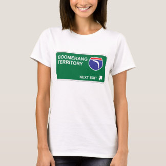 Camiseta Saída seguinte do Bumerangue
