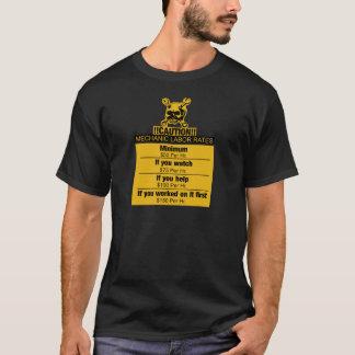 Camiseta Salários do mecânico - cuidado