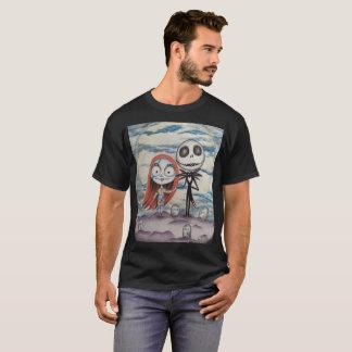 Camiseta Sally ama Jack: o T/preto dos homens
