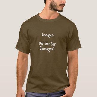Camiseta Salsichas? O t-shirt dos homens