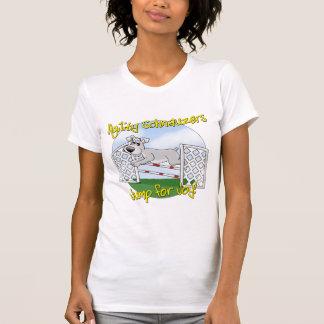 Camiseta Salte para o Schnauzer da alegria