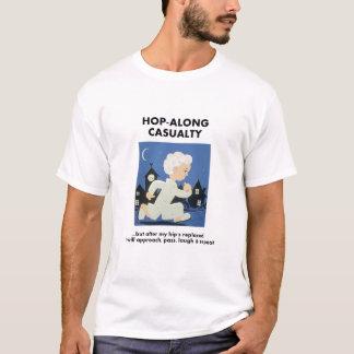 Camiseta Salto-Ao longo da víctima - até o quadril