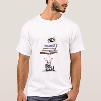 Camiseta Salto em uma cama e perturbação de seu vizinho