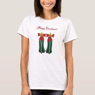 Camiseta Saltos altos verdes com arcos do Natal