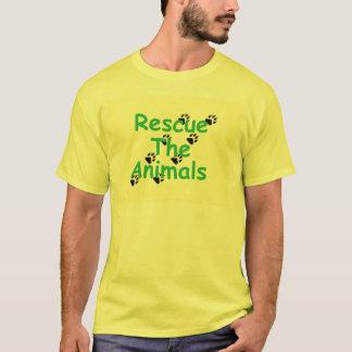 Camiseta Salvamento amarelo o t-shirt dos animais
