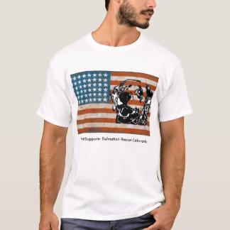 Camiseta Salvamento Dalmatian do patriota T branco de