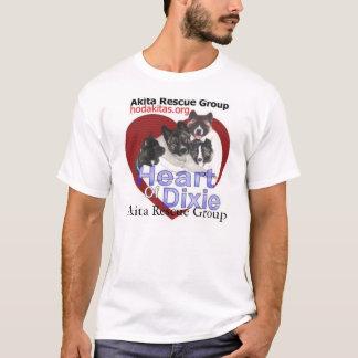 Camiseta Salvamento de Akita - coração de Dixie