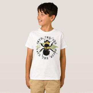 Camiseta Salvar a abelha! Salvar o mundo! Coleção do