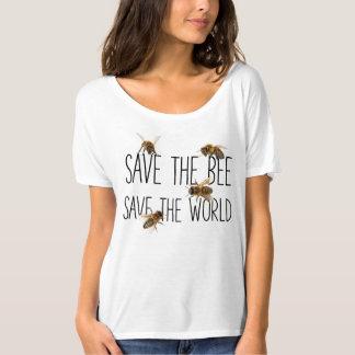 Camiseta Salvar a abelha! Salvar o mundo! Vive o design
