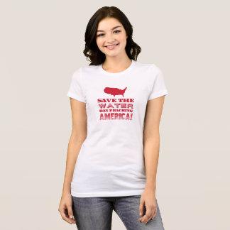 """Camiseta """"Salvar a água…"""" Tipo vermelho"""