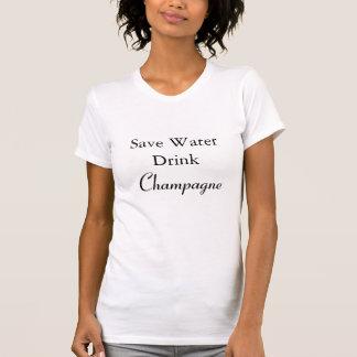 Camiseta Salvar a bebida Champagne da água