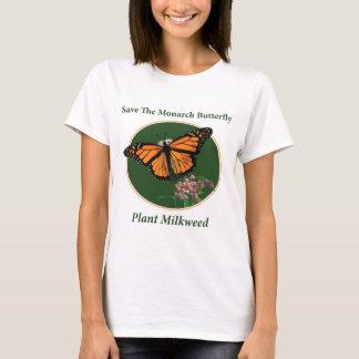 Camiseta Salvar a borboleta de monarca - Milkweed da planta