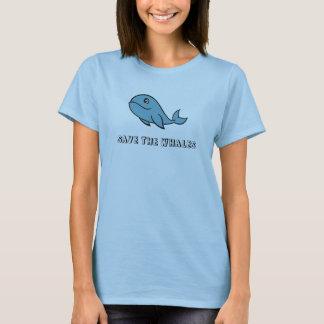 Camiseta Salvar a camisola de alças das baleias