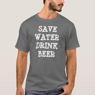 Camiseta salvar a cerveja da bebida da água