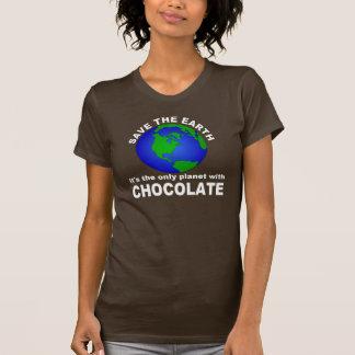 Camiseta Salvar a terra, para o chocolate