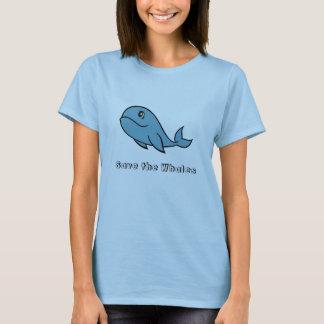 Camiseta Salvar as baleias