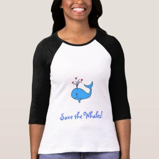 Camiseta Salvar as baleias!