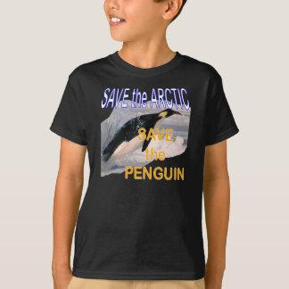 Camiseta Salvar as economias do ártico os miúdos do pinguim