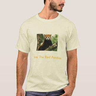 Camiseta Salvar as pandas vermelhas