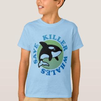 Camiseta Salvar baleias de assassino