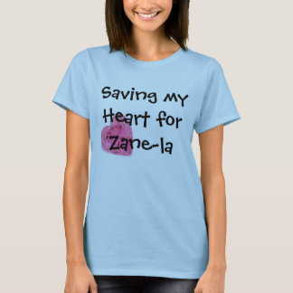Camiseta Salvar meu coração para o Zane-la Shirth