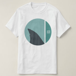 Camiseta salvar nossos círculos dos tubarões