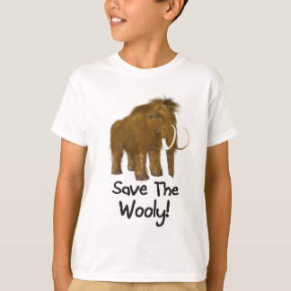 "Camiseta ""Salvar"" o Mammoth lanoso lanoso"